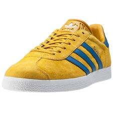 adidas Gazelle Trainers Yellow Blue Gold New Shoes