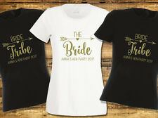Hen T Shirts Hen Do Party Bride Tribe T-shirt Ladies Custom Printed Personalised