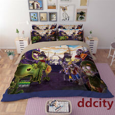 3D Plants Bedding Set Zombies Duvet Cover Flat/Fitted Sheet Bed Line Pillowcase