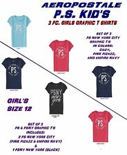 NEW GIRLS AEROPOSTALE PS KIDS' NEW YORK CITY PS & PSNY GRAPHIC T 3 PC SETS 12