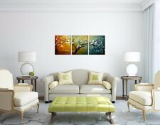 Handmade Flowers Modern Oil Painting 3pcs Abstract Wall Picture Canvs Art Decor