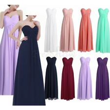 Women Ladies Chiffon Bridesmaid Chiffon Dress Long Evening Prom Cocktail Gown
