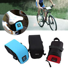 Outdoor Cycling Bicycle Bike Saddle Seat Tail Rear Pouch Storage Bag Holder GL