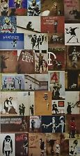 "Banksy Postcard size approx  6""x4"" Photo Print with Board  *101-131*"