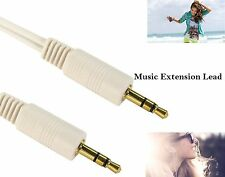 1m -5m 3.5mm Mini STEREO Jack to Jack Aux Cable Audio Auxiliary Lead PC Car Gold