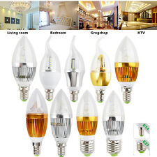 110V E27 E14 Dimmable 9W LED Lamp Chandelier Candle Light Bulb