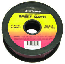 Forney 71805 Bench Roll, 1 in W x 10 yd L, 180 Grit, Aluminum Oxide/Emery Abrasi