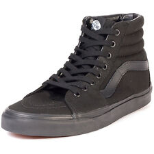 Vans Sk8 Hi Unisex Trainers Black Black New Shoes