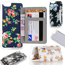 PU Leather Card Slot Wallet Stand Back Skin Cover Case for iPhone 5S 6 6S 7 Plus
