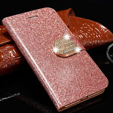 Luxury Magnetic Bling Leather Flip Case Wallet Card Cover For iPhone 6S 7 Plus W