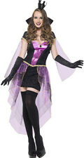 New Sexy Ladies Fancy Dress Fever Mirror Mistress Costume Complete Outfit Purple