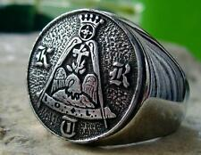 KNIGHT ROSE CROIX DEGREE MASONIC RING MASON STEEL SILVER PIN PATCH MEDAL D28