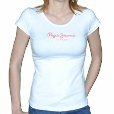 PEPE JEANS - T SHIRT SHORT SLEEVES - WOMAN - NEW VIRGINIA - PINK WHITE NEW