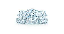 ring engagement 14k white gold wedding round diamond solid solitaire promise USA