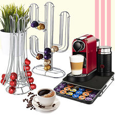CHROME 36-40 CAPSULE COFFEE POD HOLDER TOWER RACK DRAWER DOLCE GUSTO NESPRESSO