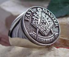 PAST MASTER DEGREE MASONIC RING MASON STEEL SILVER PIN PATCH MEDAL D12
