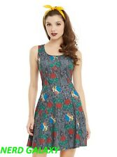 Disney Beauty And The Beast Stained Glass Rose Juniors Dress, NEW! FREE SHIP!