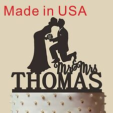 Personalized Mr & Mrs Cake Topper, Wedding Cake Topper, Custom Cake Topper,CT161