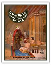 Belle of Nelson Whiskey Vintage Advertising Art Poster Print Giclée