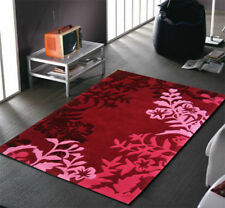 NEW Silhouette Vine And Leaf Rug Red