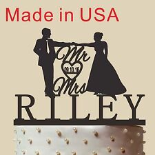 Personalized Mr & Mrs Cake Topper, Wedding Cake Topper, Custom Cake Topper,CT169