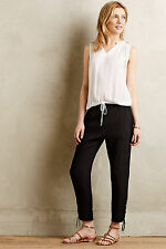 Anthropologie Clovis Crops Size 6, Black Tapered Trousers By Vanessa Bruno Athe