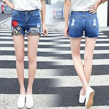 Summer Fashion Women's Casual Ripped Mesh Lady Denim Short jeans Hot Pant Shorts