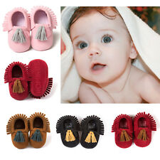Baby Boy Girl Kids Newborn Toddler Scurb Moccasins Soft Sole Crib Shoes
