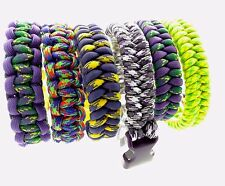 Paracord Bracelets 5/8 Inch Side Release Buckle Multiple Styles /Sizes to Choose