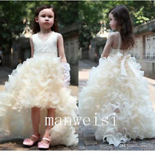 New Charming Flower Girl Dresses Bridesmaid Princess Party Pageant Dress Gowns