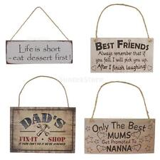 Country Primitive Wooden Sign Wall Decor Rustic Rectangle Home Decor