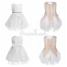 Lovely Baby Kid Girls  Princess Flower Lace Party Evening Wedding Layered Dress