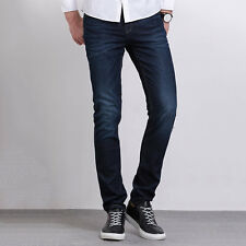 LIGAO Cool Leisure Mens Jeans Elastic Waist Straight Pants Casual Trousers LN
