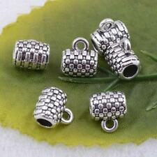 Wholesale Tibetan Antique silver charms beads jewelry craft 9x7mm  #5244