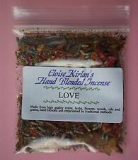 LOVE Hand Blended Grain Incense PAGAN WICCAN SPELL RITUAL  Loose Incense