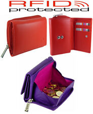 Mala Quality Leather Coin Tray Purse RFID Protected in 6 Colours - Boxed