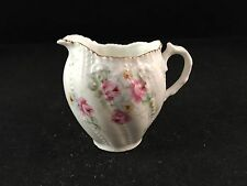 """Antique RS Celebrate Germany Pink Floral Rose Miniature Creamer Pitcher 3"""" Tall"""