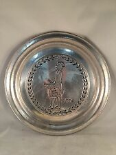 """York Metal Crafters Pewter Plate - 1776 Liberty Drummer 10-1/2"""""""