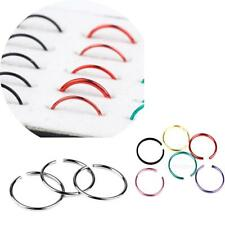 40pcs Surgical Steel Nose Ring Nose Piercing Lip Hoop Ring Stud Piercing Jewelry