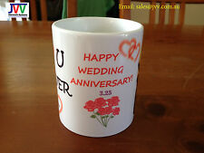 Personalised Wedding Anniversary Coffee Mug - Great gift for loved one