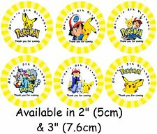 POKEMON Personalised Self Adhesive Glossy Labels/Stickers