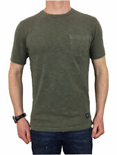 Superdry Dry Originals T-Shirt in Dry Olive Green Drab Large Mens