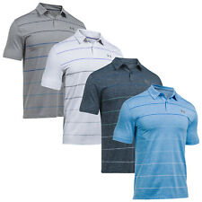 Under Armour Mens Coolswitch Pivot Stripe Polo Shirt - New HeatGear Golf Top Tee