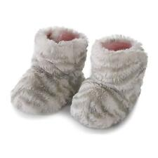 Luxurious Baby Super Soft Collection Pink or Blue Zebra Booties 0 to 6 Month