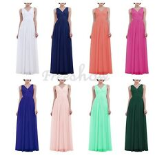 Womens Ladies Summer Greek Deep V-neck Evening Party Cocktail Long Maxi Dress