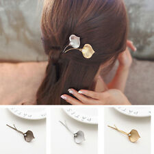 New Metal Leaf hairpin for Hair Clips Barrettes Pearl Hairpin Hair Accessories