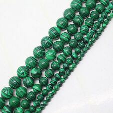 4-12mm Natural Green Imitate Malachite Gemstone Round Loose Spacer Beads 15''