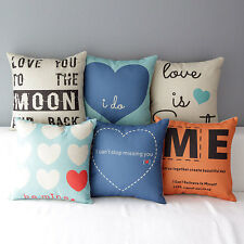 """17"""" Square Sweet Love Lover Decorative Home Sofa Throw Pillow Case Cushion Cover"""
