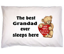 Fathers Day Gift for Grandad Dad Daddy Gift for Fathers Day Cotton Pillow case