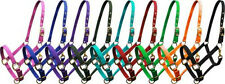 Triple Ply Nylon Adjustable Horse Halter with Brass Hardware! COLORS! FREE SHIP!